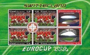 St. Vincent 2008 - SC# 3633 Eurocup Switzerland Soccer - Sheet of 6 Stamps - MNH