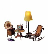 Furniture for doll room box cardboard dollhouse kit lamp and furniture