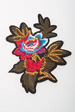 Flowers Crewel Embroidered Craft Bouquet Flower Needlework Floral Decor Sew Iron