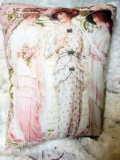 Vintage LADIES Pillow Shabby PINK WOMEN Chic Pillow Decor!!!!!