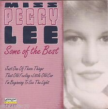 MISS PEGGY LEE Some Of The Best CD