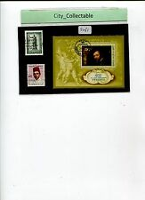 2 PCS USED STAMPS & 1 M/S FDI RUSSIA* FAMOUS PEOPLE # S261