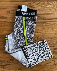 Nike Dri-fit Running Athletic Leggings Cropped Pants Women's Size M