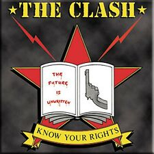The Clash Know Your Rights square steel fridge magnet   (cv)