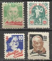 7008-coleccion sellos España guerra civil,falange asuxilio social,nuevos MNH**,S