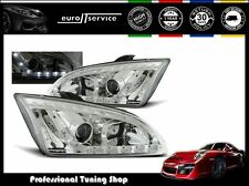 FARI ANTERIORI HEADLIGHTS LPFO18 FORD FOCUS II 2004-2006 2007 2008 DAYLIGHT LED