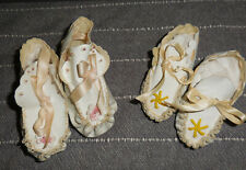 """Lot of Two (2) Vintage Doll Moccasin Shoes, 4"""" long, used"""