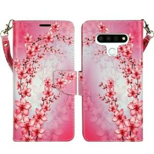 For LG Stylo 6 PU Leather Design Wallet Phone Case Cover Flip Stand Strap New