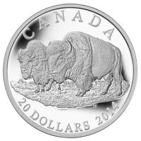 2014 Canada $20 Silver Coin The Bison: The Bull and His Mate
