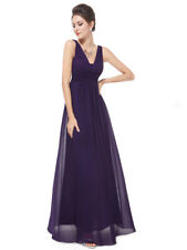 Ever-Pretty Plus Purple Bridesmaid Dress Full Length Evening Gowns V-Neck 08110