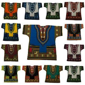 Unisex  Dashiki Africa Tribal Print Festival Kaftans Shirt Blouse Top  UK STOCK