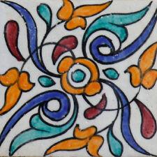 Handbemalte Fliese Bunt Muster Mediterran Orientalisch 10x10 cm Marokko