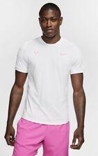 Nike Tennis Shirt Rafa Nadal Court AeroReact White AT4182-101 Mens Size Large
