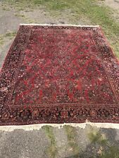 Antique Room Size Painted Sarouk Rug Carpet 10'5� By 13'7�