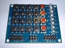 8 Led 4x4 Botones Teclado Matricial +4 Pulsador Para Arduino Reino Unido Stock
