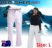 PERYSHER LIBERTY Ladies Ski & Snowboard Pants: *Snowy White* - Size Large