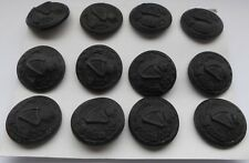 12 london irish first war black horn buttons of the 18th london regt