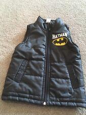 Black Batman Outdoor Vest Boys Size 4 Euc