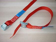 4 x Mini-Zurrgurte  Spanngurte Befestigungsriemen Skiträger Fahrradträger  rot