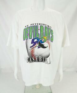 VTG MLB 1997 St. Petersburg/Tampa Bay Devil Rays Baseball T-Shirt Men's 2XL