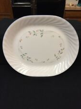 Corelle ENGLISH MEADOW Oval Serving Platter USA Floral Flowers Swirl Rim