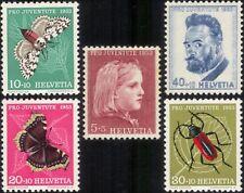 Switzerland B227-B231, MNH, Insects  Beetles 1953. x28371