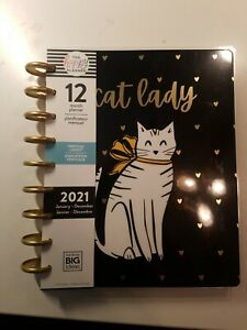 Cat Lady 2021 Classic Size Happy Planner 12 month Dated Jan-Dec 2021