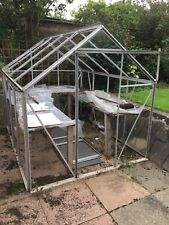 used aluminium greenhouse 8'x6'