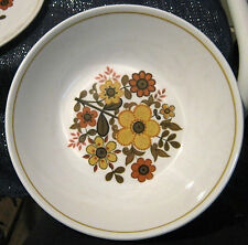 Great Ridgway Ironstone Harvest Gold Pattern Bowl Retro approx 9 1/4 ins wide
