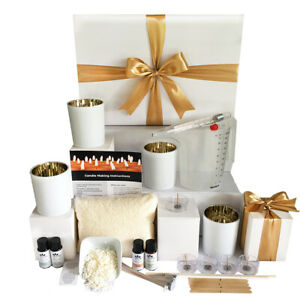 Luxury soy candle making kit with electroplated candle jars + FREE SHIPPING