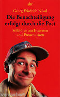 *~ Die BENACHTEILIGUNG erfolgt durch die POST - Georg Friedrich NIKOL  tb (2001)