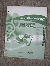 1973 Johnson Outboard Motor 4 Hp 4W73 4R73 Service Manual More In Our Store R