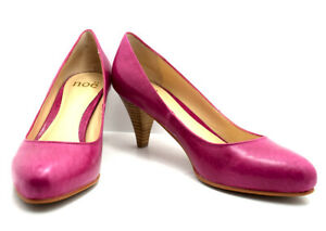 Noe Womens High Heel Pumps Court Shoes Leather Pink UK 6 / EU 39