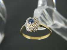 VINTAGE 18CT GOLD SAPPHIRE AND DIAMOND RING!