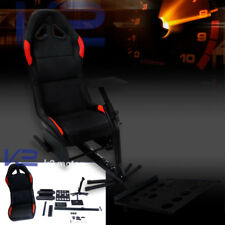 Black Racing Simulator Cockpit Driving Race Chair Gaming Seat for PS3 PS4 XBOX