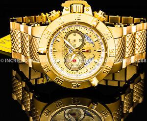 Invicta Subaqua Noma III Swiss Chronograph 18K Gold Dial Bracelet 50mm Men Watch