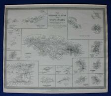 More details for british islands, west indies, jamaica, cayman, original antique map sduk 1844