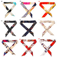 Mini  Ribbon  Bow Tie  Handle Silk Scarf Bag Belt  Strap  Floral Headband