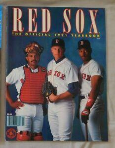 1991 Boston Red Sox Yearbook - Roger Clemens Ellis Burks Tony Pena