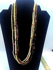 Southwestern Heishi necklace Qt Rare Carolyn Pollack Relios 925 Native Tribal