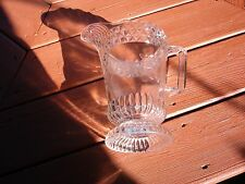 VINTAGE **EAPG 1800S WATER PITCHER** DIAMOND SCROLLED FLOWERED***