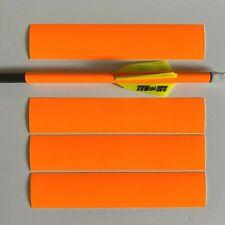 3 Arrows Archery - Arrow Wraps - FLO ORANGE. 12 + 2 (Multi Size) Made In USA