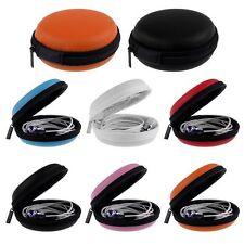 Mini Round Headset Round Storage Bag Gift Zipper Coin Purse Key Wallet Pouch Bag