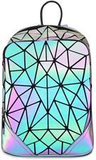 HotOne Geometric Backpack Holographic Reflective Backpacks Fashion Backpack