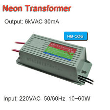 Neon Electronic Transformer 6KV60W30mA Load 6Meter Neon Power Supply Rectifier
