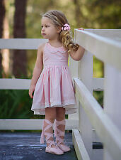 NEW DOLLCAKE BABY STEPS DRESS PINK SZ 6 BIRTHDAY WEDDING SUMMER