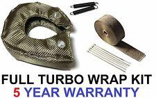 Los cabezales de escape titanio Wrap cinta escudo de calor y Turbo Manta Aislante 15 M