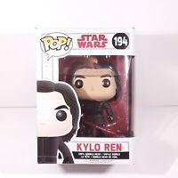Funko Pop! Star Wars: The Last Jedi - Kylo Ren Unmasked #194 * Damaged Box *