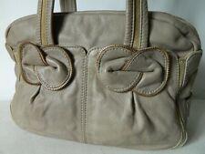 SEE BY CHLOE très joli sac épaule CUIR tendre taupe Marti Zipper bow bag TBE