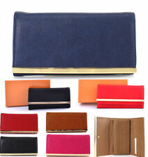 Women's Faux Leather Envelope Purses & Wallets with Organizer
